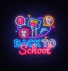 back to school discount sale concept vector image