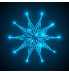 Background with shining abstract star vector image
