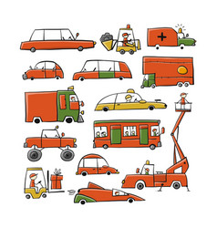 Batoy cars collection for your design vector
