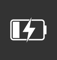 battery charge level indicator on black background vector image