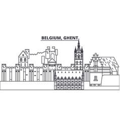 Belgium ghent line skyline vector