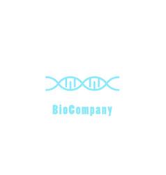 bio company adn logo concept vector image