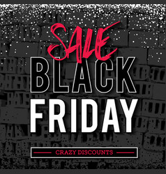 black friday sale banner on grunge brick wall vector image