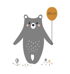 Cartoon cute bear vector
