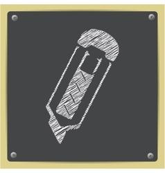 Chalk drawn sketch oficon vector