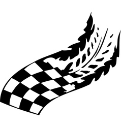 Checkered flag - symbol racing vector image