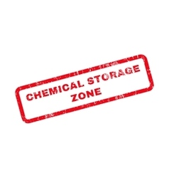 Chemical Storage Zone Text Rubber Stamp vector