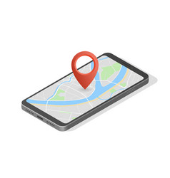City map route navigation smartphone phone point vector