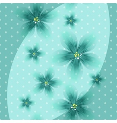 Colorful Floral Blue Background with Dots vector image