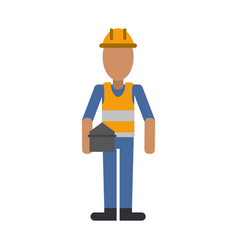 construction worker contractor avatar icon image vector image