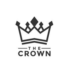 crown logo design inspiration vector image