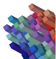 cubical abstract background design vector image
