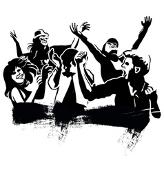 Dancing group vector