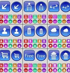 Deploying screen avatar swing avatar trash can vector