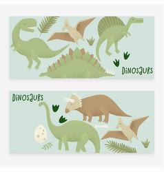 dinosaurs design tyrannosaurus rex vector image