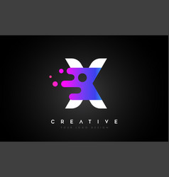 Dots letter x logo design letter x icon with vector