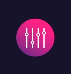 Eq slider bar icon vector