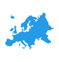 Europe map country border european map eu vector