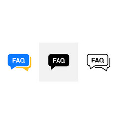 Faq help flat design icon query frequently vector