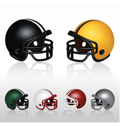 Football helmets vector image
