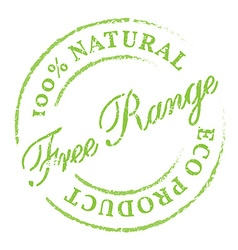 Free Range natural product eco stamp vector
