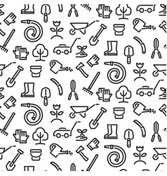 Gardening tools seamless pattern vector