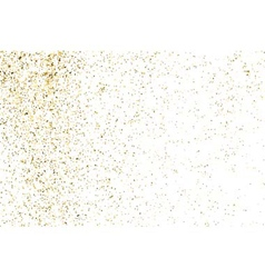 Gold glitter texture white rectangle vector image