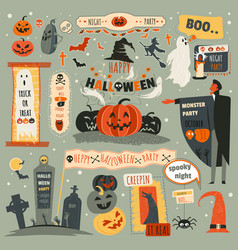 Halloween night party trick or treat october 31 vector