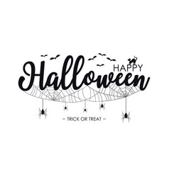 happy halloween lettering for text banner vector image