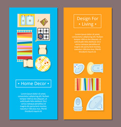 Home decor design for living vector