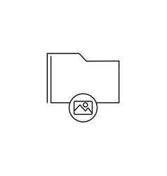 Image folder icon vector
