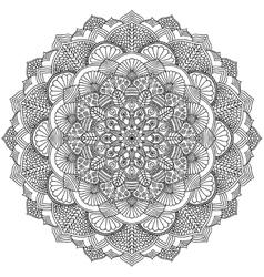 Intricate Black Mandala for Coloring vector