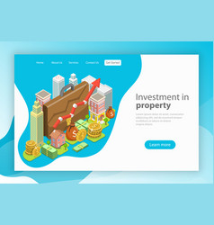 investment in property isometric flat vector image