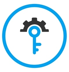Key Options Rounded Icon vector