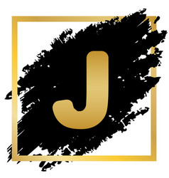 letter j sign design template element vector image