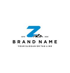 Letter z mountain logo design concept vector