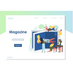 Magazine website landing page design vector