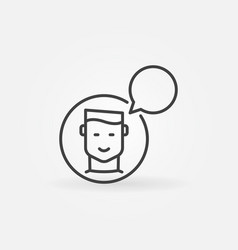 man with speech bubble icon talking or vector image