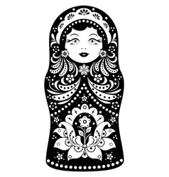 Matryoshka on white background vector