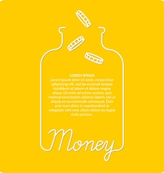 Money background vector image