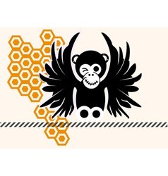 monkey in comic style vector image