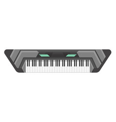 Musical keyboard instrument isolated image a vector