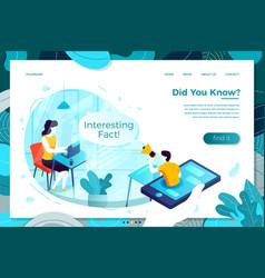 Online interesting fact man vector