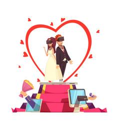 online love wedding composition vector image