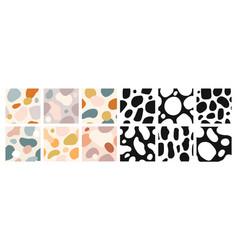organic shapes seamless pattern abstract art vector image