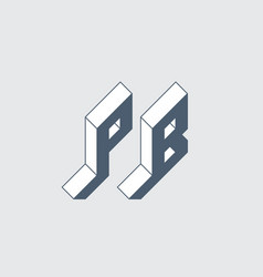 Pb - 2-letter code or logo p and b - monogram vector