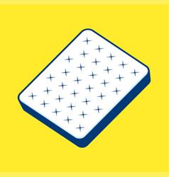 Plain white mattress vector