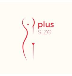 Plus size woman logo concept vector