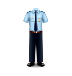 police uniform isolated on white vector image