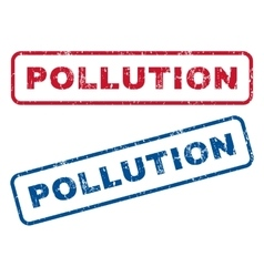 Pollution rubber stamps vector